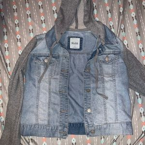 Mudd Sweatshirt Jean Jacket